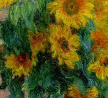 Monet - Sunflowers Sticker