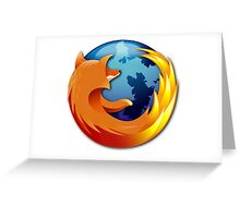 Firefox logo Greeting Card