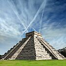 Ancient Chichen Itza Mayan Kukulcan pyramid in Mexico by Bruno Beach
