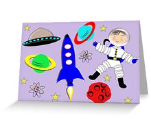 Cute Kids Outer Space Themed Design Greeting Card