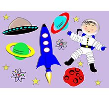 Cute Kids Outer Space Themed Design Photographic Print
