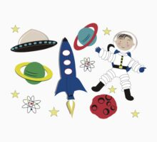 Cute Kids Outer Space Themed Design Kids Clothes