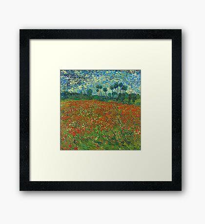 Van Gogh - Field of Poppies Framed Print
