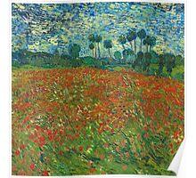 Van Gogh - Field of Poppies Poster