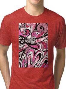 Doodle in Pink Tri-blend T-Shirt
