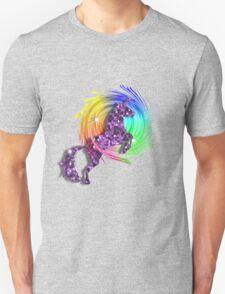 Sparkly Glittery Purple Unicorn And Rainbow Unisex T-Shirt