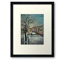 When the frost clears.... Framed Print