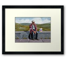 I wonder if the ol' girl misses me as much.. Framed Print