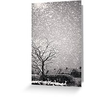 Snowstorm, Newcastle Greeting Card