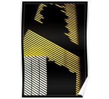 radiator on yellow wall Poster