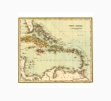 Antique Map of the West Indies Unisex T-Shirt