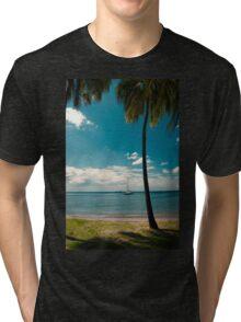 Tropical Landscape Tri-blend T-Shirt