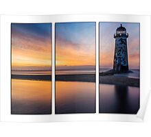 Sunset at the Lighthouse Tryptych Poster