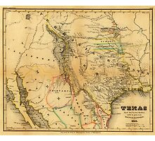 Antique Map of Texas, 1846 by Chunga