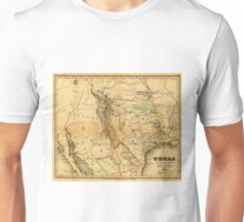 Antique Map of Texas, 1846 Unisex T-Shirt