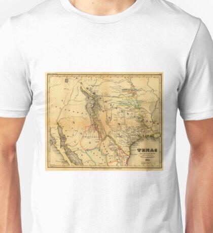 Antique Map of Texas, 1846 Unisex T-Shirt