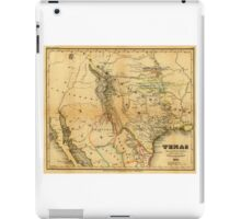 Antique Map of Texas, 1846 iPad Case/Skin