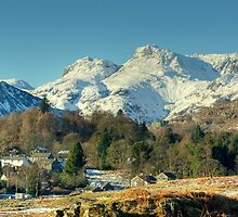 Elterwater Village and the Langdale Pikes by VoluntaryRanger