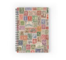 Vintage World Stamps Spiral Notebook