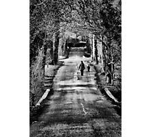 one man and his dog Photographic Print