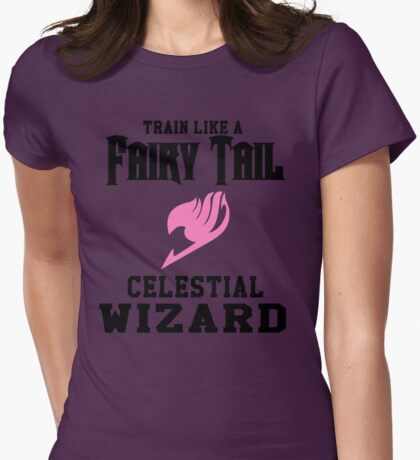 Fairy Tail - Train like Lucy! Womens Fitted T-Shirt