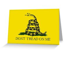 The Gadsden Flag - Don't Tread On Me Greeting Card