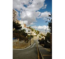 Steep street, Finestrat Photographic Print