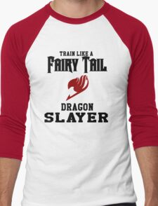 Fairy Tail - Train like Natsu! Men's Baseball ¾ T-Shirt