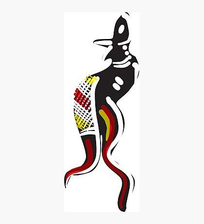 Aboriginal Kangaroo Photographic Print
