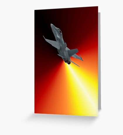 Shoot For The Sky - RAAF F/A-18 Design Greeting Card
