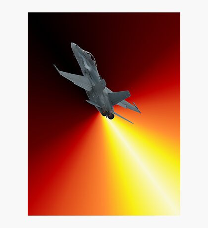Shoot For The Sky - RAAF F/A-18 Design Photographic Print