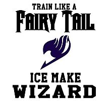Fairy Tail - Train like Gray! Photographic Print
