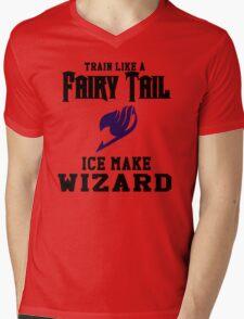 Fairy Tail - Train like Gray! Mens V-Neck T-Shirt
