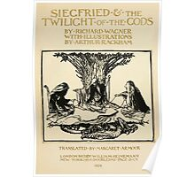 Siegfried & The Twilight of the Gods by Richard Wagner art Arthur Rackham 1911 0009 Title Plate Poster