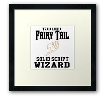 Fairy Tail - Train like Levy! Framed Print