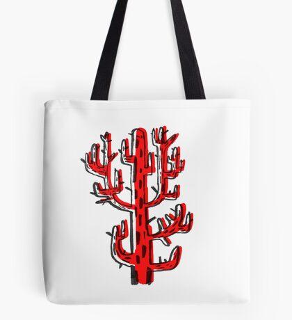 Cactus rojo Tote Bag