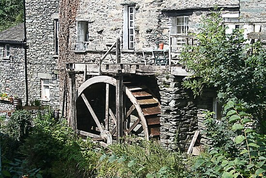 Old Watermill, Ambleside, Lake District by Jan Szymczuk