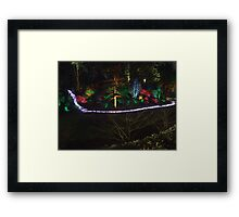 Night in the Sunken Garden (7) Framed Print