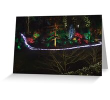 Night in the Sunken Garden (7) Greeting Card