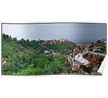 Granada. Vista panorámica desde el Sacromonte. Poster