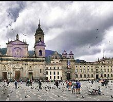 Bogotá (Colombia). Catedral Primada y Plaza Bolivar. by josemazcona