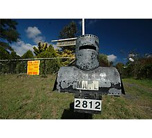 Letterbox (Ned Kelly helmet-shaped), Lue, NSW, Australia Photographic Print