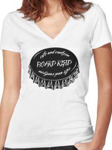 Board Rigid Bottle Cap Women's Fitted V-Neck T-Shirt