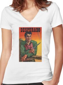 Vintage Desperado Women's Fitted V-Neck T-Shirt
