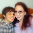 Raylyn and Her Son, Zack. by Wanda Raines