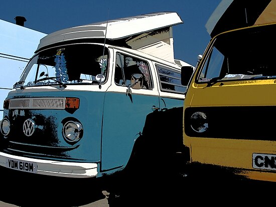 Two VW Camper Vans by tallview