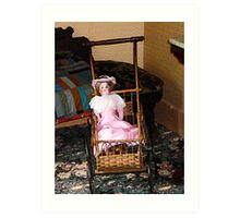 Doll in Carriage Art Print