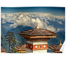 a historic Bhutan landscape Poster