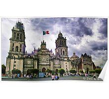 México DF. Catedral Metropolitana. Poster