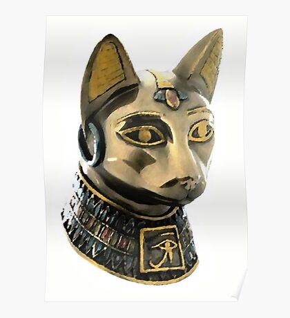 Egyptian cat, goddess of fertility Poster